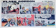 Flash Gordon by Dan Barry - lot of 9 color Sunday comic pages from 1969