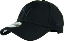NY Yankees New Era 940 League Essential All Black Baseball Cap