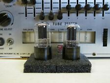 PAIR RAYTHEON JAN CRP 6SN7 GT VT-231 DATE CODE MATCH BLACK PLATES AUDIO PRE AMP