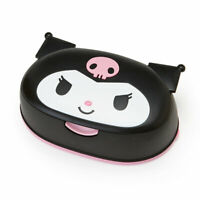 Sanrio Genuine Kuromi Face type case& Wet tissue Set Cute Lovely Very Rare F/S