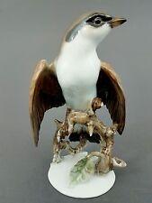 Rosenthal Vogel Figur, Rotrückiger Würger, Heidenreich, Mod.-Nr. 1754, H= 17,5cm
