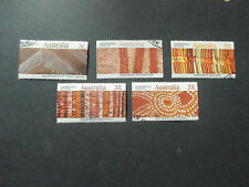 --1987  ABORIGINAL  ART  BOOKLET      ISSUES   5   STAMPS-- USED  --A1  ORDER