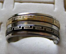 SIZE:8.5   ~  S/STEEL ~ DOUBLE _ SPINNER  ~  RING  -- (GREAT_CHRISTMAS_GIFT)