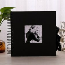 10'' Black Slip In Photo DIY Album memory album scrapbook Wedding Gift 40 Pages