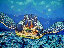 kunstwerk leinwandbild gemälde bild deko unikat original acryl kunst schildkröte