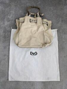 Dolce & Gabbana Ladies Cream Leather Handbag Shoulder Bag & Matching Purse