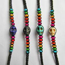 Rainbow  Coloured  Skull  Wristband  Bracelet  !!      Brand  New !!