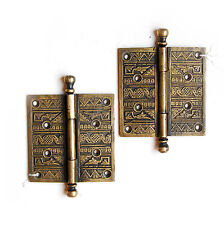 30% OFF - REPRODUCTION Ornate Eatslake Brass Hinge, E1001 (2 In Stock)