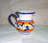 Brocca da 500 ml.   in ceramica Sorrentina disegno foglie altezza cm. 12