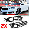 Honeycomb Fog Light Grille Cover For Audi A3 8P S-Line 09-12 Front Grille Grill
