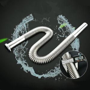 DN30 Edelstahl Siphon Flexibel Waschbecken Ablaufgarnitur Spülenablauf Schlauch