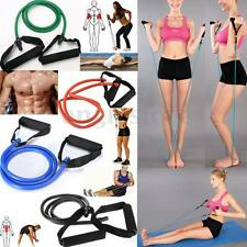 Exercise Latex Resistance Bands Pilates Tube Workout Yoga Gym Fitness Stretch