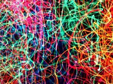 LIGHT NEON COLOUR TRACES TRAIL POSTER ART PRINT HOME PICTURE BB80A