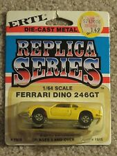 ERTL Die-cast Replica Series Ferrari Dino 246GT Yellow #1909 1:64 Scale MOC 1981