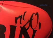 Signed Matt Suckling Western Bulldogs Auto on Red Soft Touch Sherrin Football