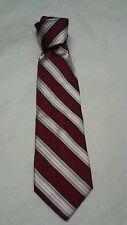 NEW  ROUNDTREE & YORKE Men's 100% SILK Ties Neckties Stripes Burgundy , Gold