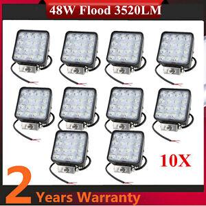 10X 48W 4inch LED Work Light Bar Chevrolet Boat Off road car Lighting Flood Spot