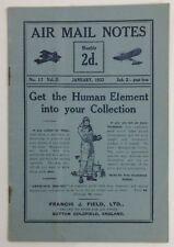 January, 1932 Air Mail Notes No. 17 Vol. II
