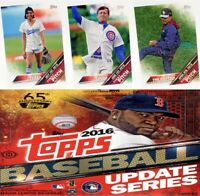 2016 Topps Update First Pitch Insert Set Singles Baseball Trading Sport Cards