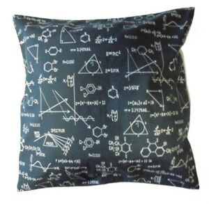 Cushion Pillow Cover Black White Science Equations Chemical Geek Lab Science New