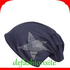 Chapeaux bleu taille unique pour femme, en 100% coton