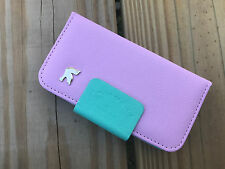 iPhone 4 Case Phone Book Case Cover Wallet Card Holder Pouch Flip Pink/Green