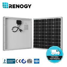 Renogy 50W Watts Solar Panel Monocrystalline Off Grid 12V RV Marine Boat Caravan