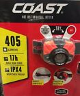 Coast Dual Color Focusing Headlamps 405 Lumens IPX4 Weatherproof plus Batteries