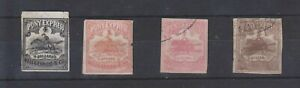 ph987 USA-Locals.1861 Unused $1 and $4(both faulty) + 'used' fantasy $2;$4