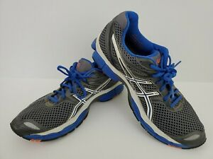 Asics Men's Gel Cumulus 14 Athletic Running Shoes Sneakers Size 9.5 Gray Blue