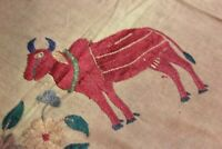 Vintage Welcome Tapestry Fine Old Kutch Banjara Hand Embroidery Wall Hanging