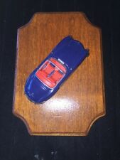 300SL DINKY MATCHBOX COLLECTIBLES 1962 MERCEDES BENZ ROADSTER car On Wall Plaque