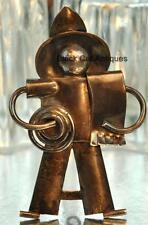 Rare Abraham Paz Sterling Silver .925 Mexican Tin Man Figure Brooch Broach 19.6g