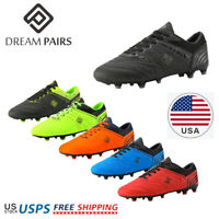 DREAM PAIRS Mens Soccer Shoes Sport Athletic Outdoor Football Cleats Size 6.5-13