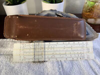 Vintage Aristo Studio DBGM Slide Rule Nr. 868 Made in Germany +Leather Case RARE