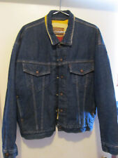 Levi's Vtg Dark Blue Blanket Lined Jacket w/Quilted Lined Sleeves. MADE IN USA!