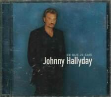 """★ JOHNNY HALLYDAY """"Ce que je sais"""" CD-Album"""