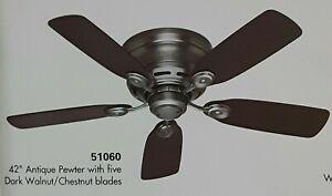 Hunter ceiling fan 51060- 42 inch pewter hugger fan