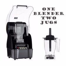 OmniBlend Pro Commercial Blender + Boîtier + 2 Jugs Ice Smoothie Milkshake Bar