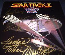 "STAR TREK SIGNED ""THE WRATH OF KHAN"" SOUNDTRACK RARE! ALL 5 VINTAGE! SHATNER!"