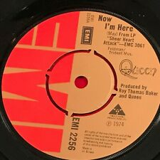 "QUEEN Now I'm Here 1974 UK 7"" vinyl single EXCELLENT CONDITION"