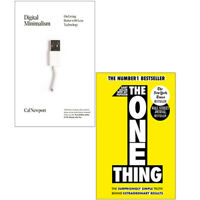 Digital Minimalism,The One Thing 2 Books Collection Set Paperback NEW