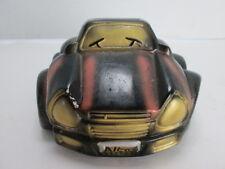 "VW Bug Piggy Bank Car Dune Buggy 5 1/2"" x 5"" Handmade Black/Brown T"