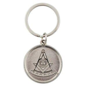 Freimaurer Schlüsselanhänger - Münze mit Sonnensymbol