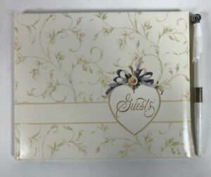 Hallmark Wedding Guest book with pen WCA3307 new in box