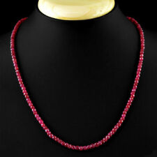 557ccd81554 2x4mm Natural Faceted Brazil Red Ruby GEMSTONE Beads Necklace 18'' AAA