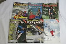 Backpacking Magazine 1985 Camping Hiking Trails Outdoors 6 Issues