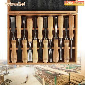 12X Schnitzeisen Set Schnitzwerkzeug Hohlbeitel Holz Beitel Holzschnitzerei DHL