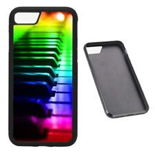 Rainbow Piano Keys RUBBER phone case Fits iPhone