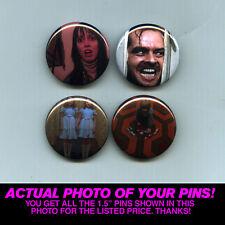 "THE SHINING - 1.5"" PINS / BUTTONS (poster print art shirt vintage horror kubrick"